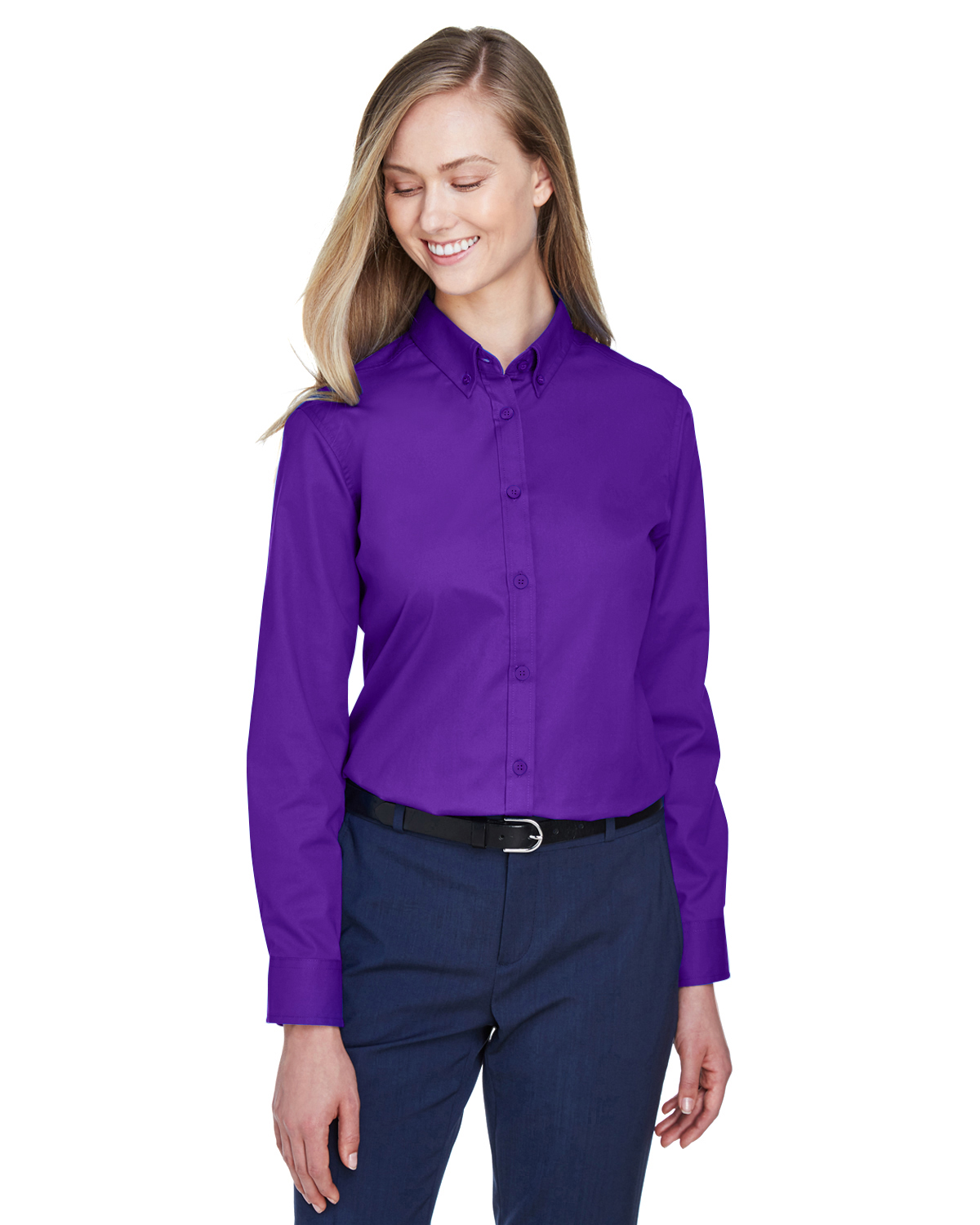 AUTO-CLUB-78193 Core 365 Ladies' Operate Long-Sleeve Twill Shirt