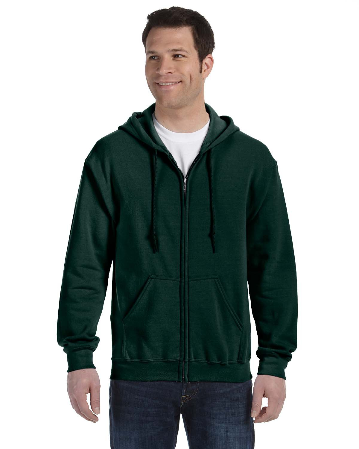 G186 FULL FRONT ZIPPERED HOODIE
