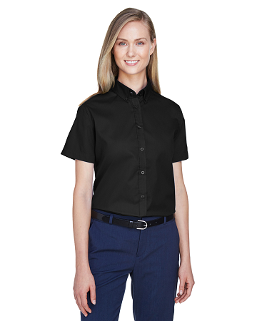 TTC-CLUB-78194 Core 365 Ladies' Optimum Short-Sleeve Twill Shirt