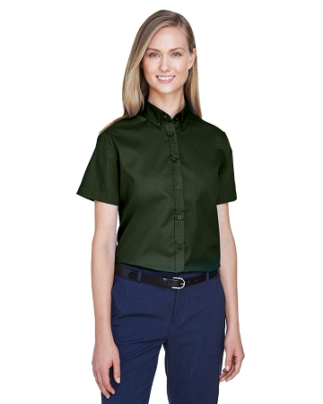 VCL-78194 Core 365 Ladies' Optimum Short-Sleeve Twill Shirt