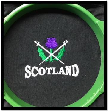 KDC08 CROSSED SWORDS WITH THISTLE & SCOTLAND