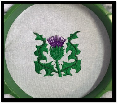 KDC024 SINGLE THISTLE WITH LEAVES