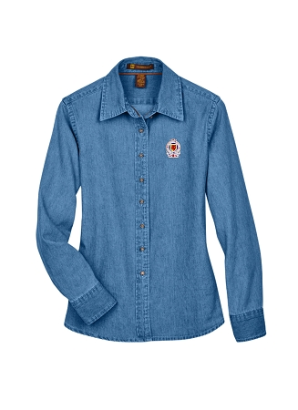 M550W LADIES' LONG SLEEVE DENIM SHIRT