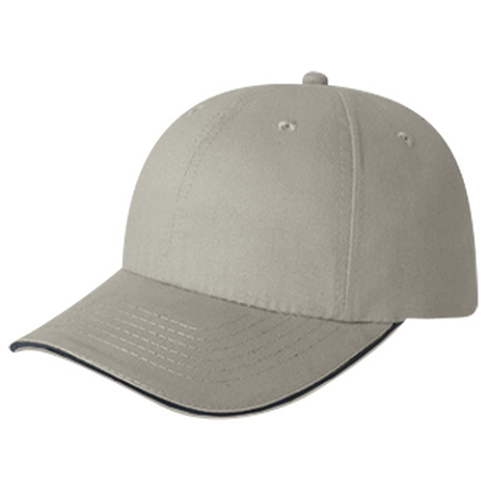 TTC-CLUB-5D780M 6 Panel Ball Cap Sandwich Peak