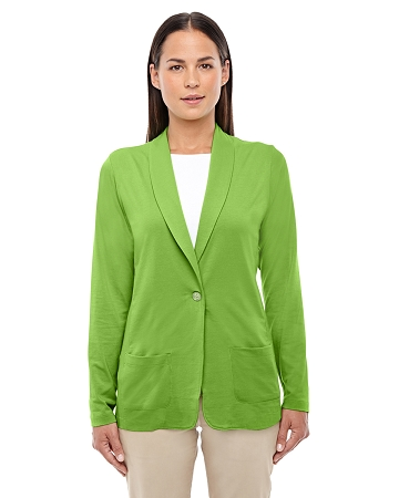 DP462W LADIES' DEVON & JONES PERFECT FIT SHAWL COLLAR CARDIGAN