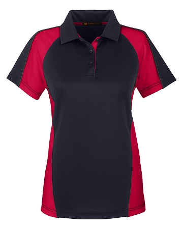 M385W Ladies Colour Block Polo