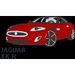 "2018 JAG XKR COUPE    3.75"" x 2"" approx"
